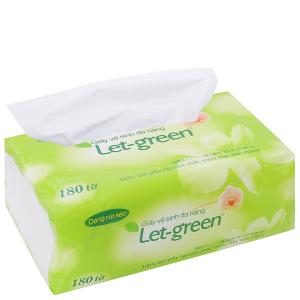 Giấy vệ sinh đa năng Let-green gói 180 tờ 2 lớp