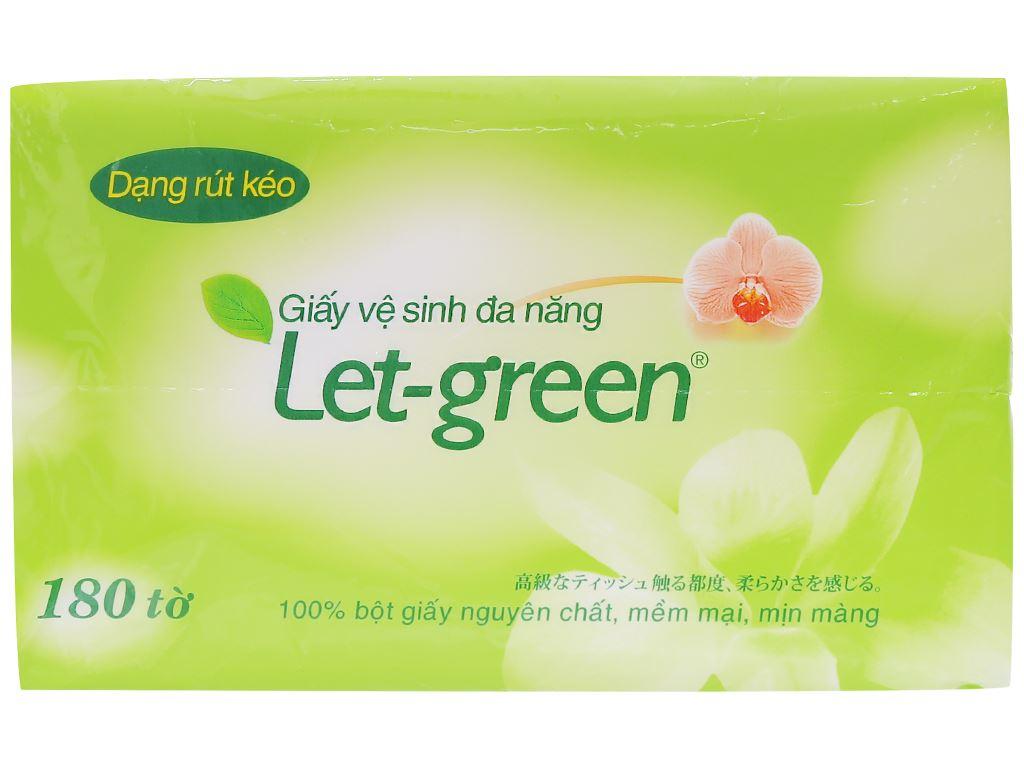 Giấy vệ sinh đa năng Let-green 2 lớp gói 180 tờ 1