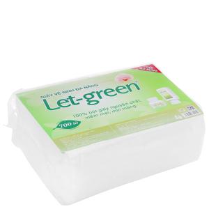Giấy vệ sinh đa năng Let-green gói 700 tờ 2 lớp