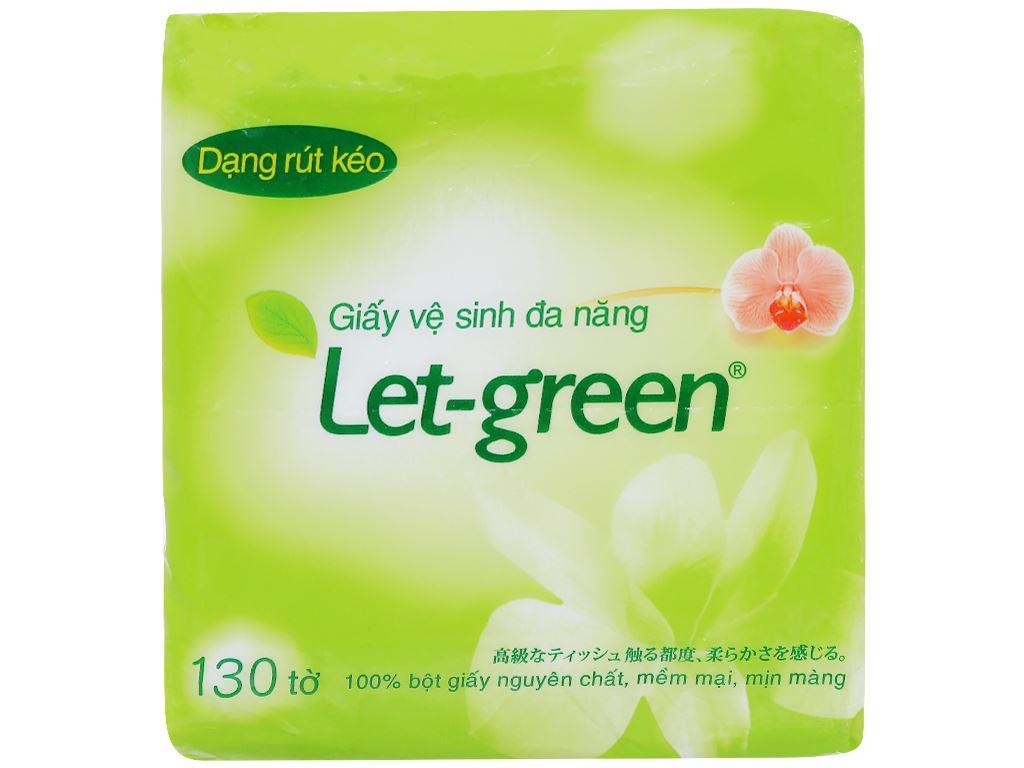 Giấy vệ sinh đa năng Let-green gói 130 tờ 2 lớp (gói nhỏ) 1