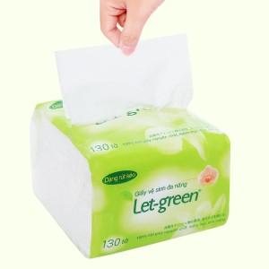 Khăn giấy rút Let-green 2 lớp gói 130 tờ (gói nhỏ)
