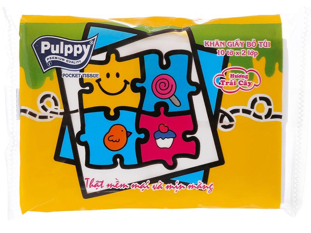 6 gói khăn giấy bỏ túi Pulppy hương trái cây 2 lớp 2