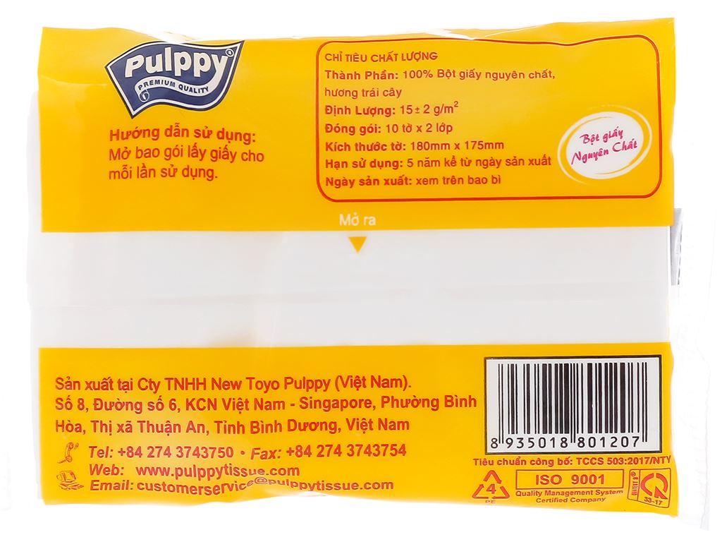 6 gói khăn giấy bỏ túi Pulppy hương trái cây 2 lớp 3