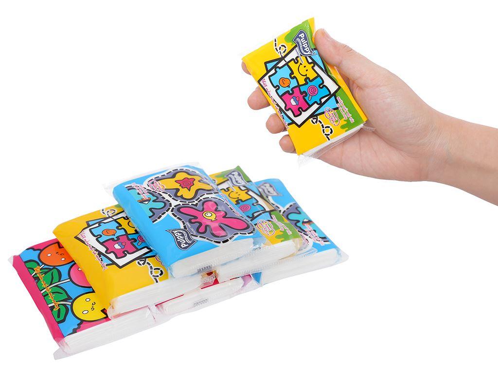 6 gói khăn giấy bỏ túi Pulppy hương trái cây 2 lớp 4