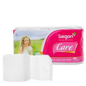 10 cuộn giấy vệ sinh Saigon Care 2 lớp (5 cặp)