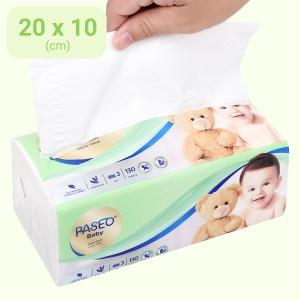 Khăn giấy cho bé Paseo Baby 3 lớp gói 130 tờ