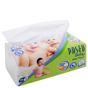 Khăn giấy cho bé Paseo Baby gói 130 tờ 3 lớp