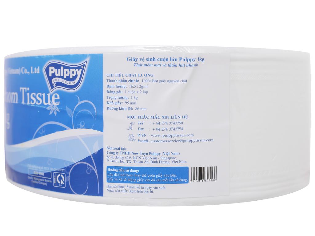 Giấy vệ sinh cuộn lớn Pulppy JRT Bathroom 2 lớp 1kg 2