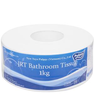 Giấy vệ sinh cuộn lớn Pulppy JRT Bathroom 2 lớp 1kg