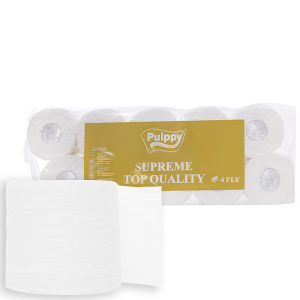 10 cuộn giấy vệ sinh Pulppy Supreme 2 lớp
