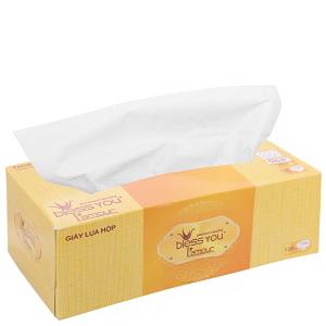 Khăn giấy lụa Bless You L'amour hộp 2 lớp