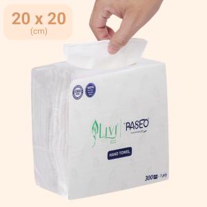 Khăn giấy ăn Paseo Livi Eco 1 lớp gói 300 tờ
