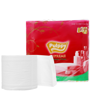 9 cuộn giấy vệ sinh Pulppy Supreme 3 lớp