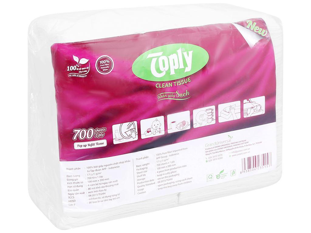 Khăn giấy Toply gói 700 tờ 1 lớp 1