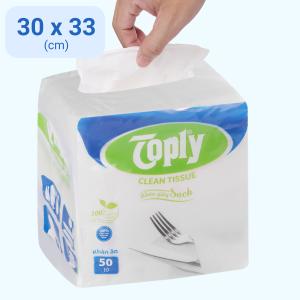 Khăn giấy ăn Toply 1 lớp gói 50 tờ