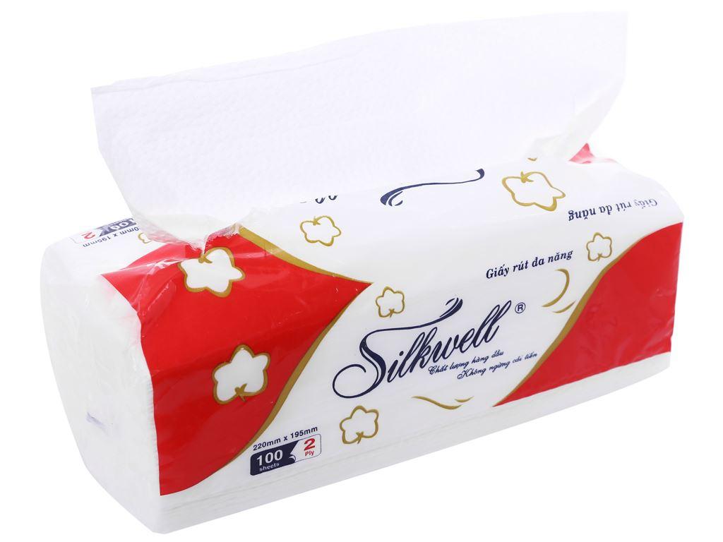 Khăn giấy đa năng Silkwell 2 lớp gói 100 tờ 1