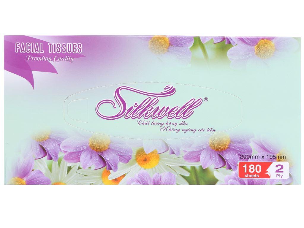 Khăn giấy Silkwell hộp 180 tờ 2 lớp 2