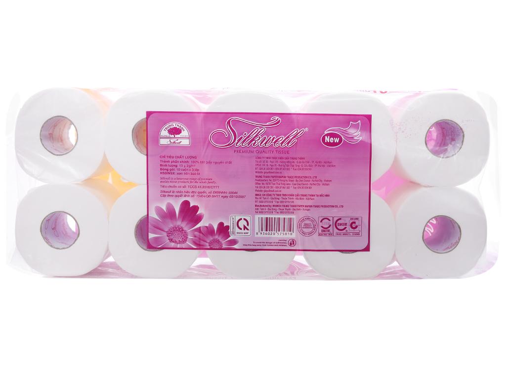 10 cuộn giấy vệ sinh cao cấp Silkwell 3 lớp 2