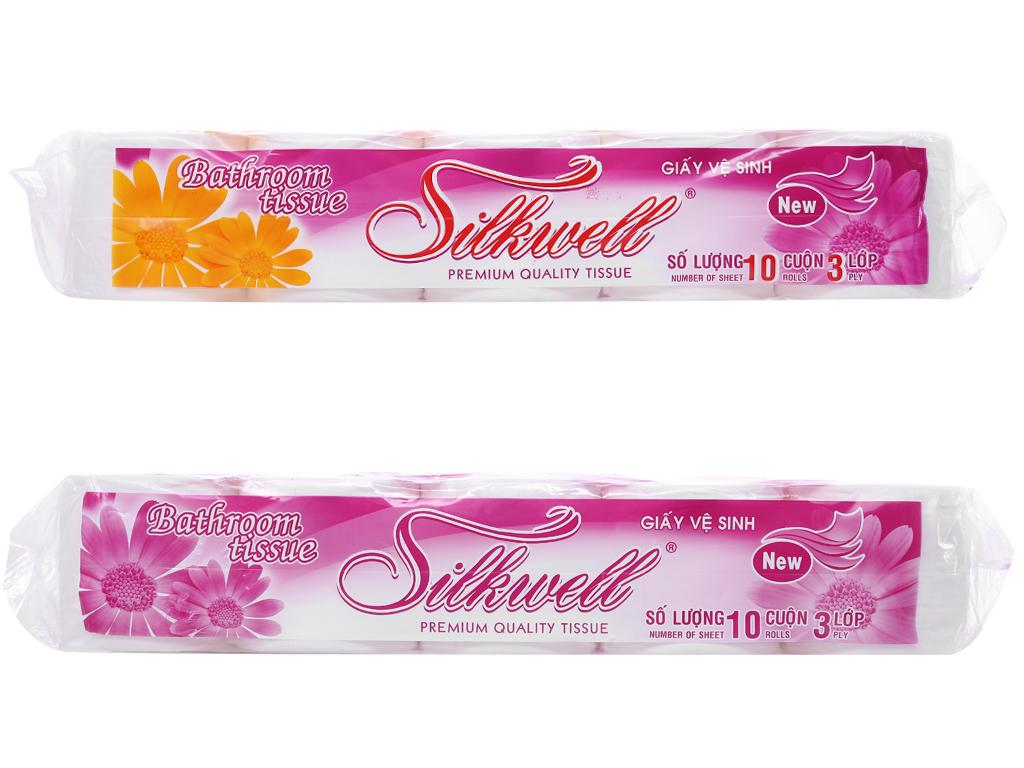 10 cuộn giấy vệ sinh cao cấp Silkwell 3 lớp 6
