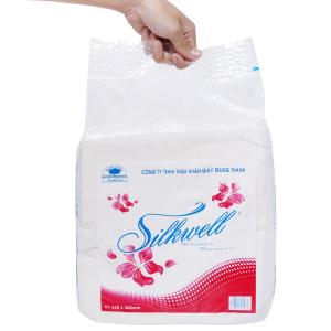 Khăn giấy ăn Silkwell gói 1 lớp 1kg 32x32cm
