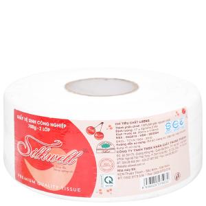 Giấy vệ sinh cuộn lớn Silkwell 2 lớp 700g