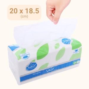 Khăn giấy lụa Silkwell 2 lớp gói 250 tờ 20x18.5cm