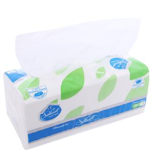 Khăn giấy lụa Silkwell gói 250 tờ 2 lớp 20x18.5cm