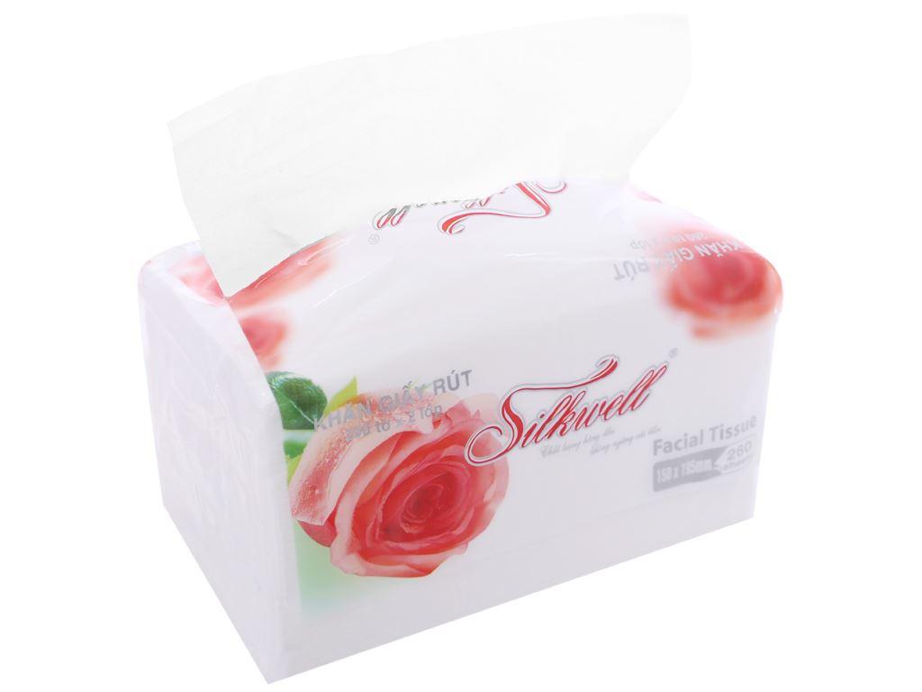 Khăn giấy Silkwell gói 260 tờ 2 lớp 1