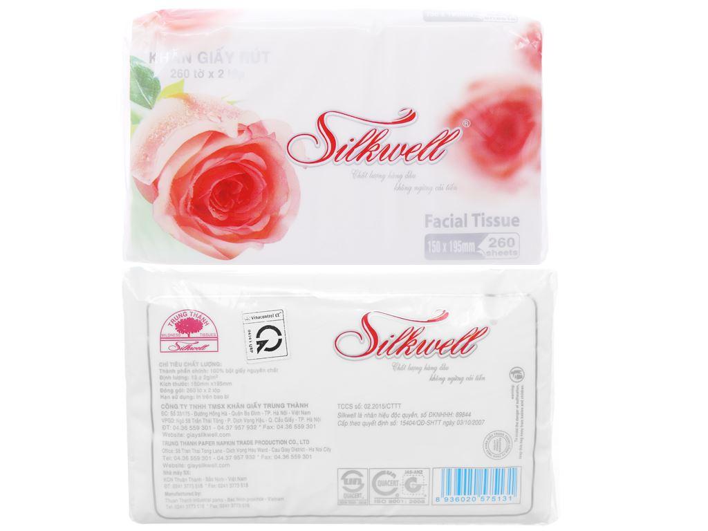 Khăn giấy Silkwell gói 260 tờ 2 lớp 4