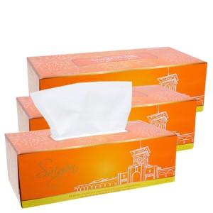Combo 3 hộp khăn lau mặt Watersilk Sàigòn 150 tờ 2 lớp