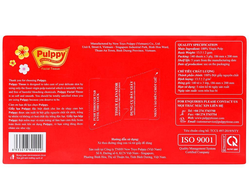 Khăn giấy lụa Pulppy 3 lớp hộp 140 tờ 3
