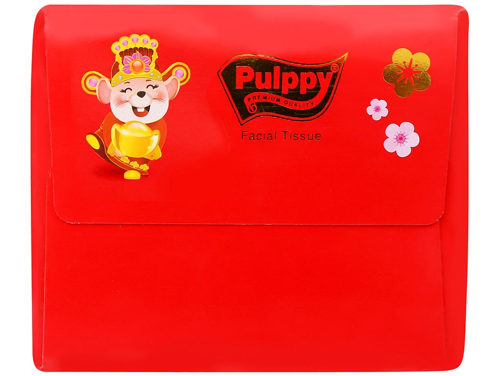 Khăn giấy lụa Pulppy 3 lớp hộp 140 tờ 4