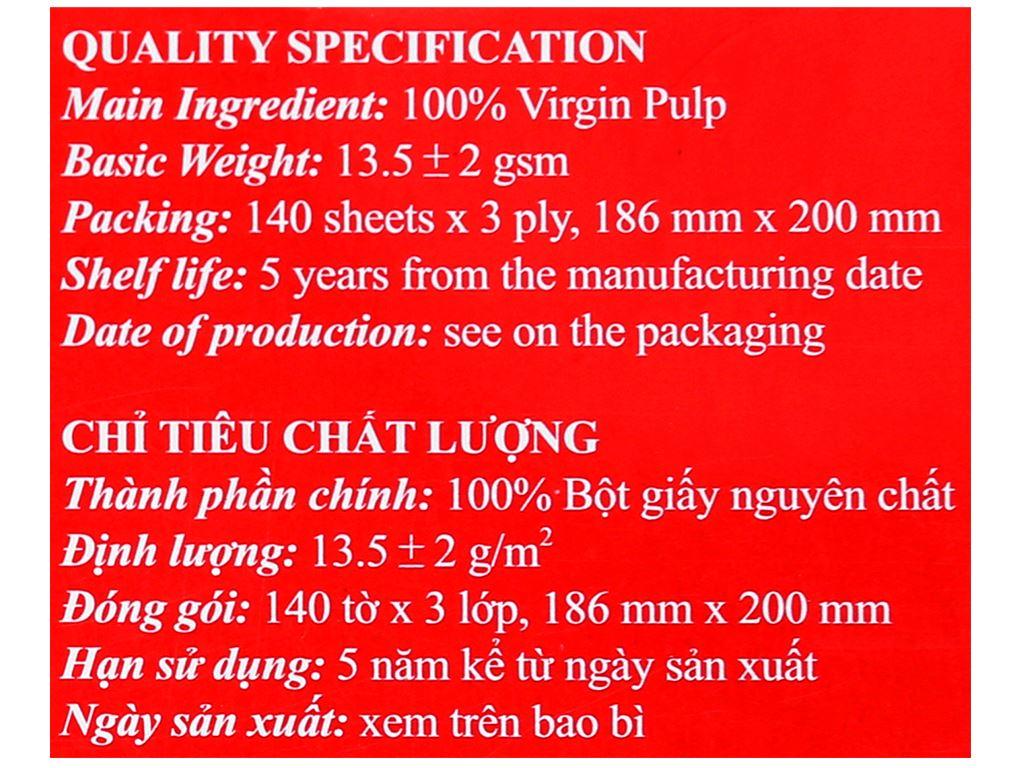 Khăn giấy lụa Pulppy 3 lớp hộp 140 tờ 6