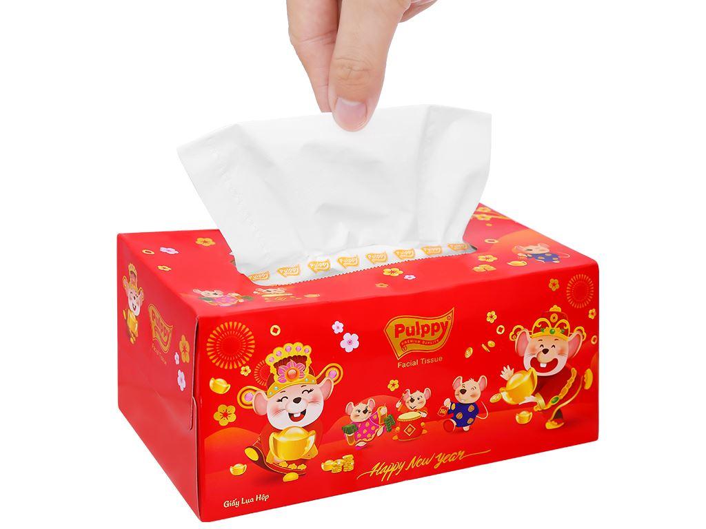 Khăn giấy lụa Pulppy 3 lớp hộp 140 tờ 8