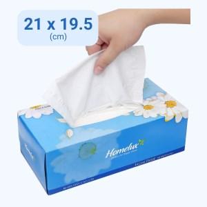 Khăn giấy lụa Homelux New 2 lớp hộp 150 tờ (giao màu ngẫu nhiên)