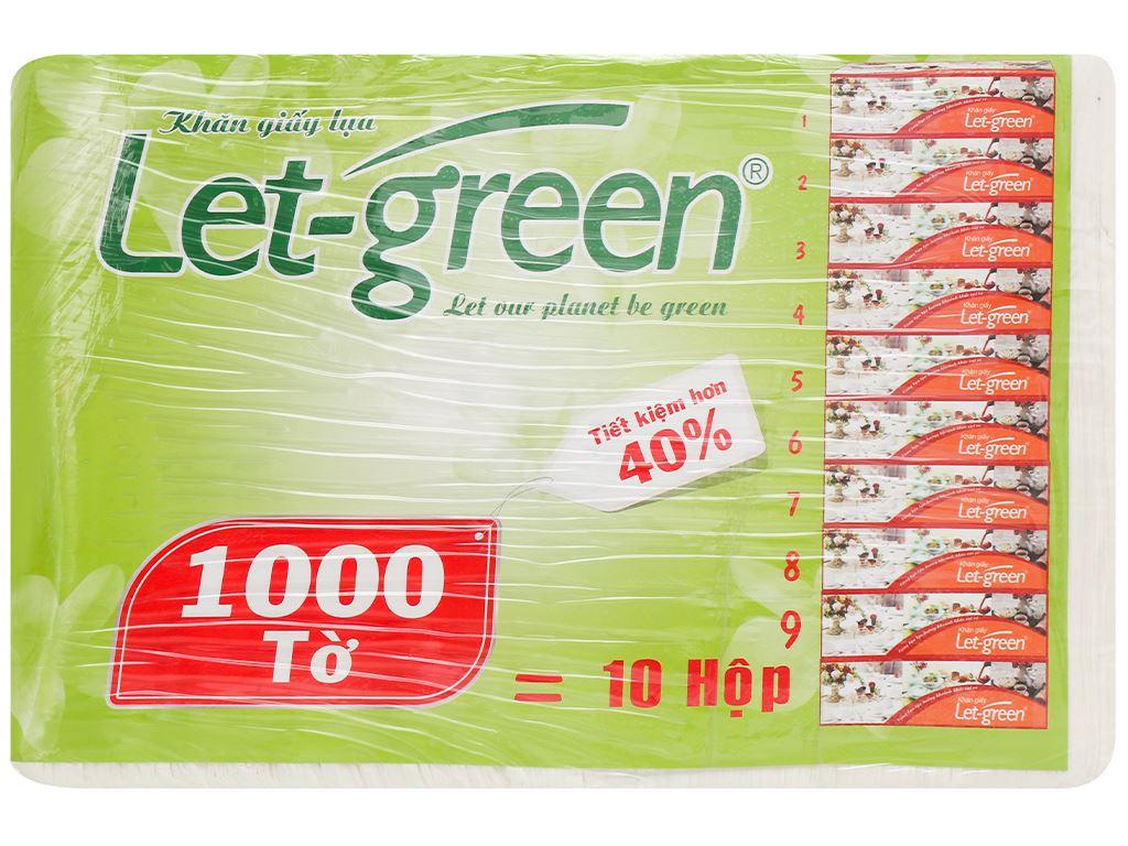 Khăn giấy lụa Let-green 2 lớp gói 1000 tờ 2