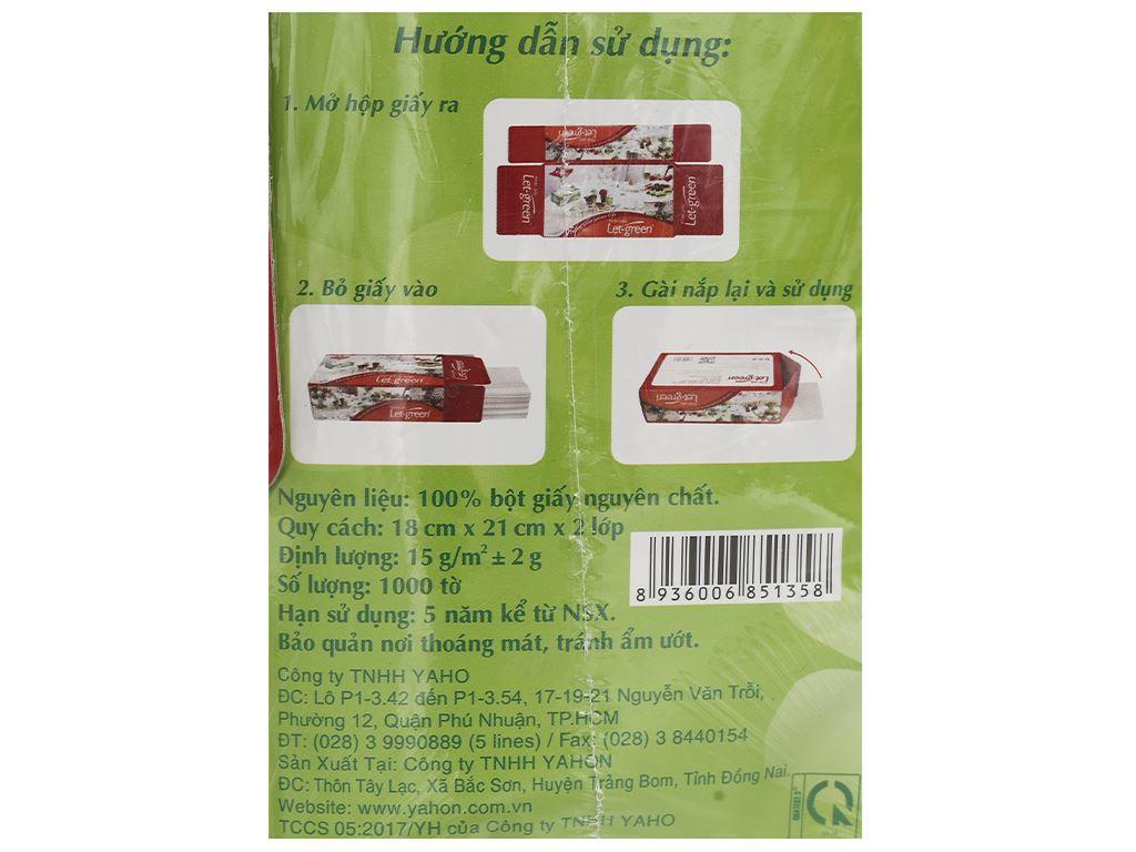 Khăn giấy lụa Let-green 2 lớp gói 1000 tờ 5