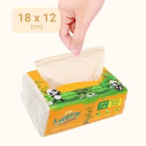 Khăn giấy lau mặt Lency 3 lớp gói 100 tờ