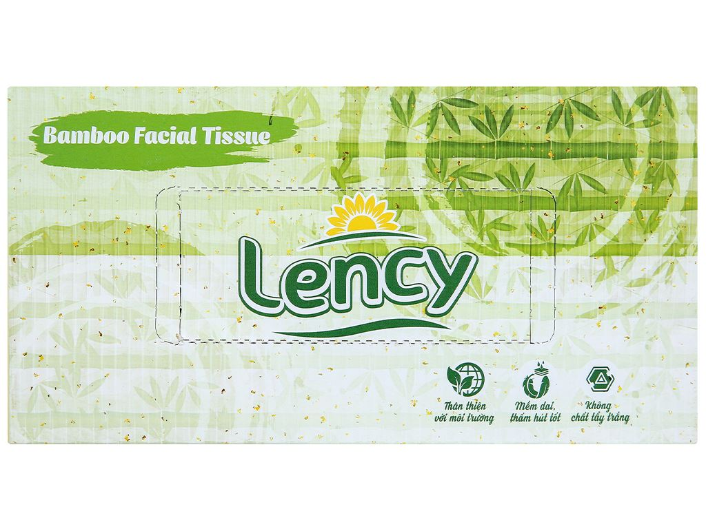 Khăn lau mặt Lency 2 lớp hộp 180 tờ 2
