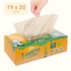 Khăn lau mặt Lency 3 lớp hộp 100 tờ