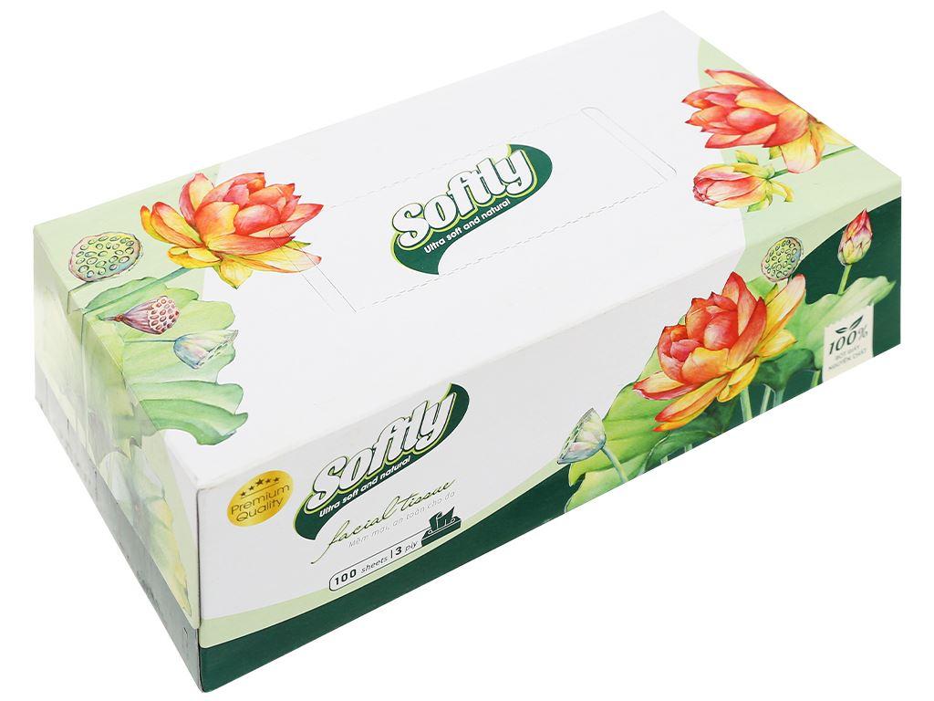 Khăn giấy lụa Softly 3 lớp hộp 100 tờ 1