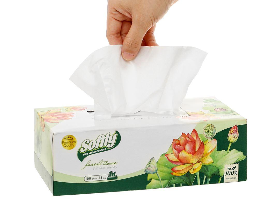 Khăn giấy lụa Softly 3 lớp hộp 100 tờ 7