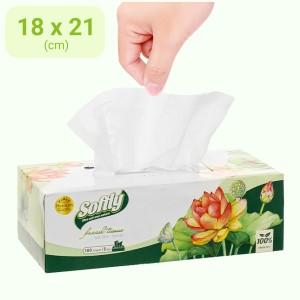 Khăn giấy lụa Softly 3 lớp hộp 100 tờ