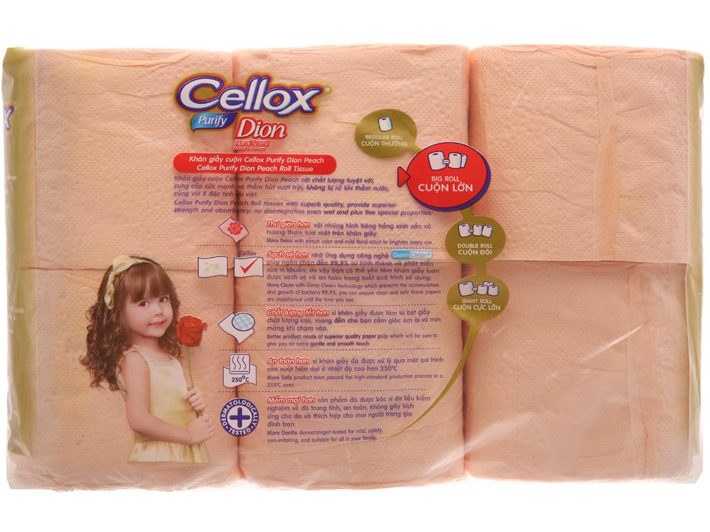 6 khăn giấy cuộn Cellox Purify Dion hương thơm tươi mát 2 lớp 3
