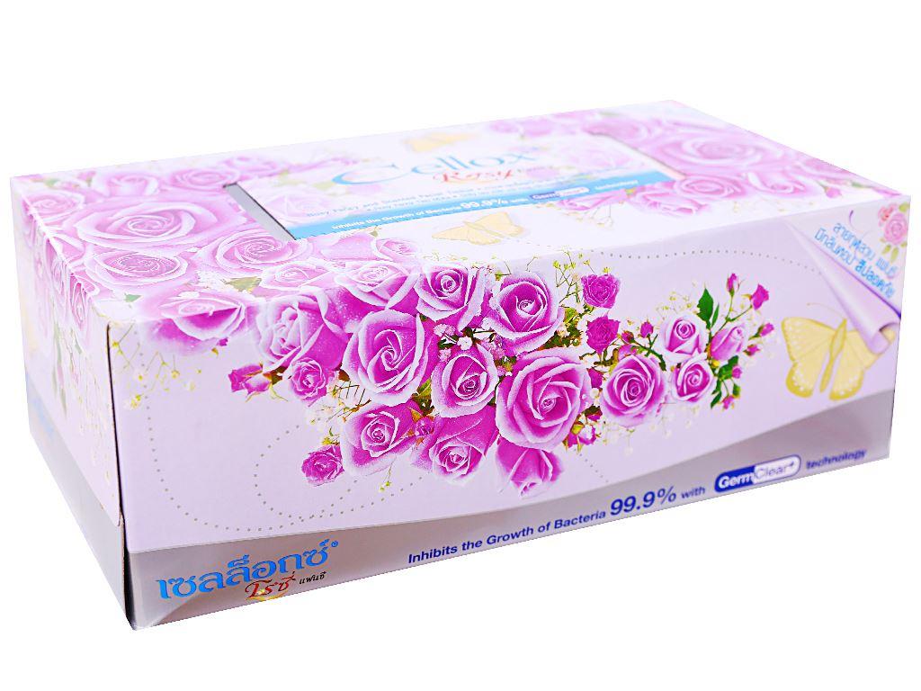 Khăn giấy thơm Cellox Rosy hộp 150 tờ 2 lớp 1