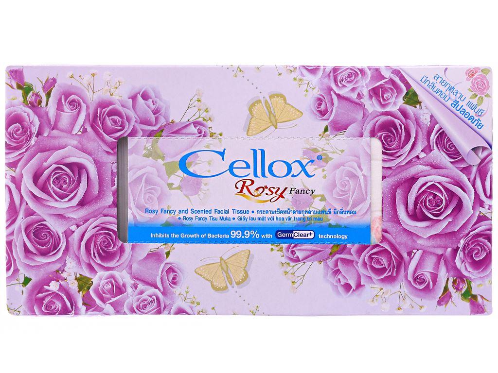 Khăn giấy thơm Cellox Rosy hộp 150 tờ 2 lớp 2