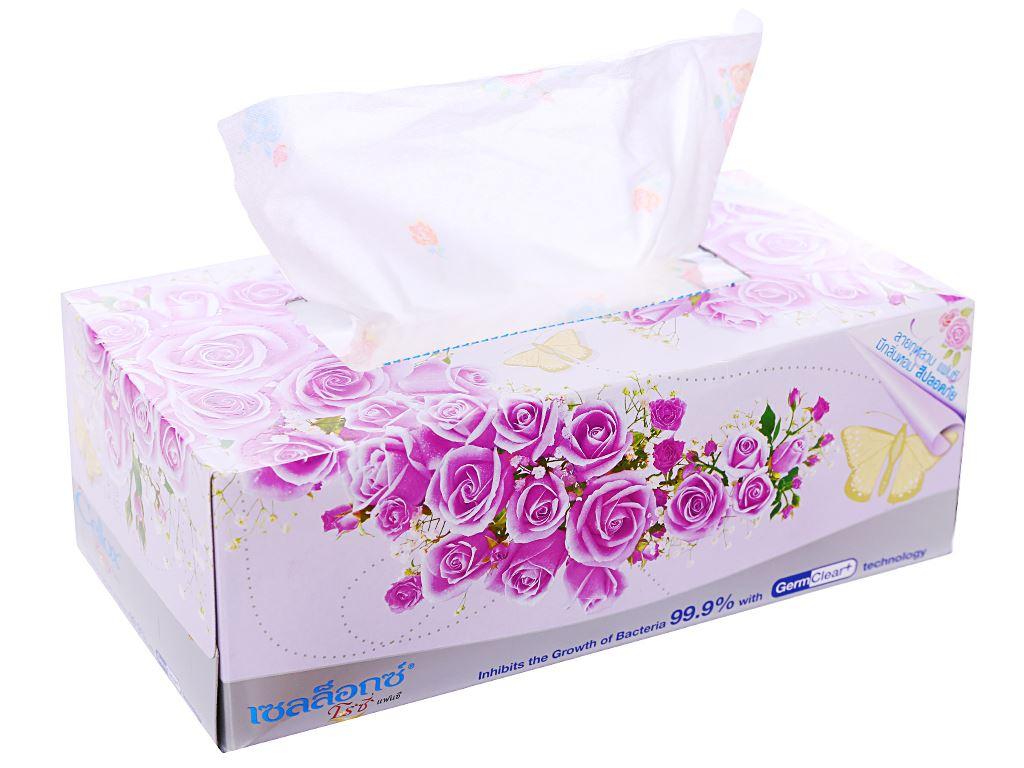 Khăn giấy thơm Cellox Rosy hộp 150 tờ 2 lớp 4
