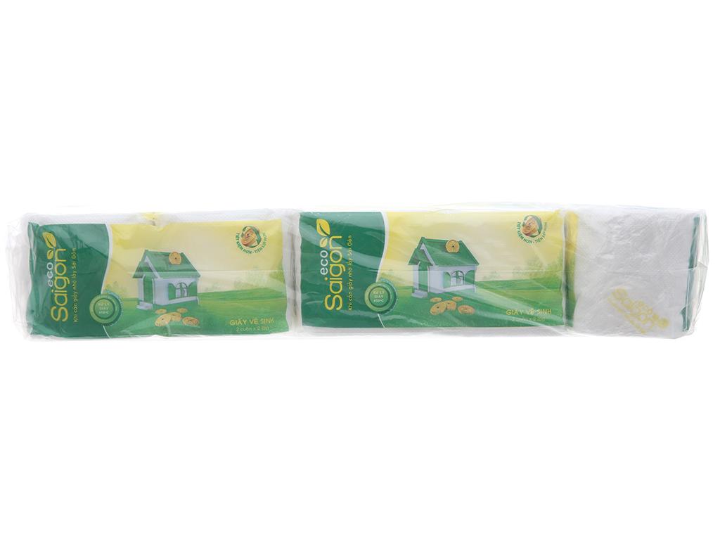10 cuộn giấy vệ sinh Saigon Eco 2 lớp 1