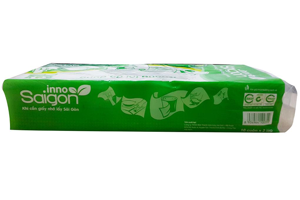 10 cuộn giấy vệ sinh không lõi Saigon 2 lớp 4