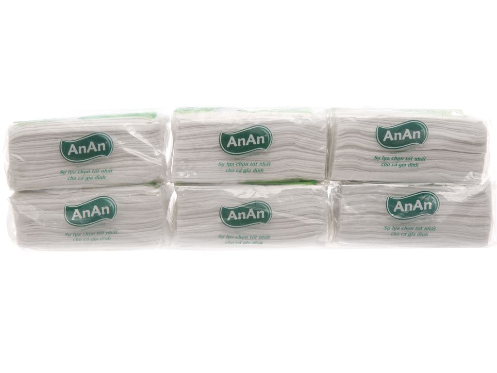 6 gói khăn giấy ăn An An 100 tờ 2 lớp 3